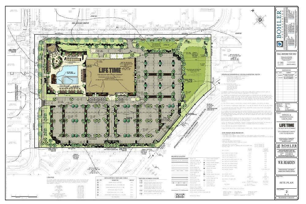 Zoning relief for luxury fitness center in upper dublin for Fitness center floor plan