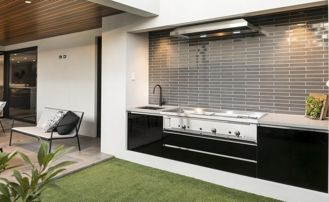 outdoor kitchen blueprints wooden partition wall habitat profiles six stylish alfresco kitchens from shakerstyle space to monochrome masterpiece amazing outdoor kitchen design ideas