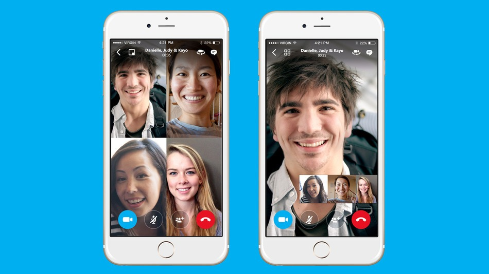 Image result for Skype - iOS/Android