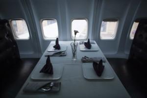 Airplane Restaurant Elegant Setting