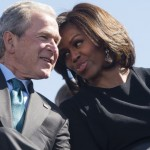 The friendship of George W. Bush and Michelle Obama