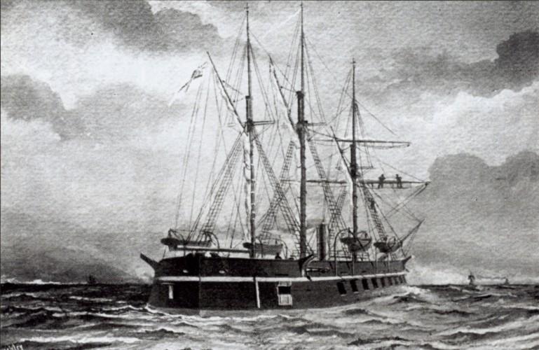 H.M.S. Terror - Atlantic Ocean (150 years ago)