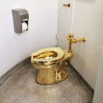 Guggenheim Museum's visitors can make their physical necessities in an artwork, a 18 karat gold toilet
