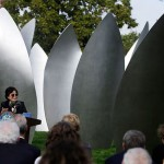 Yoko Ono revealed the last piece of her artistic installation in Chicago