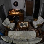 The office in which Adolf Hitler died, rebuilt in an ex-Nazi bunker