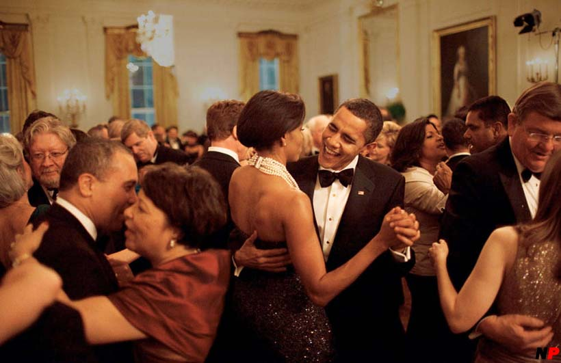 Michelle and Barack Obama at the last White House Halloween party