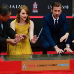 Emma Stone and Ryan Gosling left their hand and footprints at Hollywood