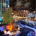 The Rockefeller Center Christmas Tree's lights were turned on