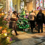 1000's of Christmas Trees exhibited at St. Mary's Church in Leicester