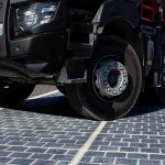 A section of solar road is tested in the North-East of France