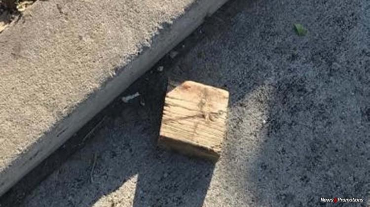 Middle-school student threw wood block at Trump's motorcade