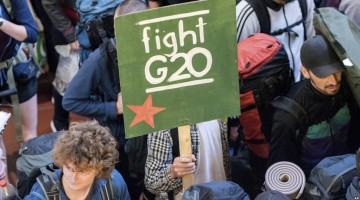 G20 Summit not going as planned in Hamburg Germany